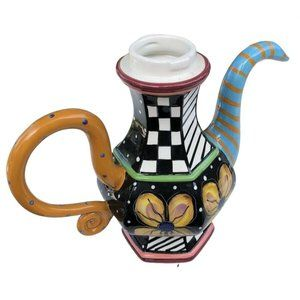 Vintage Prospero Studio Designworks Whimsical Colorful Teapot